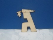 Wooden Craft letters-Gimmel