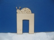 Wooden Craft letters-Chet