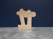 Wooden Craft letters-Ayin